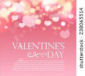 Shining Bokeh Heart Valentine's ...