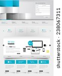 one page website design... | Shutterstock .eps vector #238067311