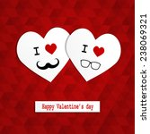 paper cut heart hipster style ... | Shutterstock .eps vector #238069321