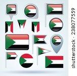 flag set of sudan  vector...   Shutterstock .eps vector #238077559