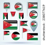 flag set of jordan  vector... | Shutterstock .eps vector #238077619