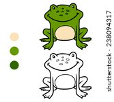 coloring book  frog  | Shutterstock .eps vector #238094317