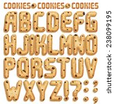 Cookie Font With Chocolate...
