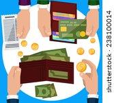 businessmen hands with money on ...   Shutterstock . vector #238100014