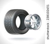 car wheel unassembled   tires... | Shutterstock .eps vector #238102651