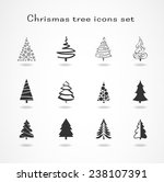 christmas tree set | Shutterstock .eps vector #238107391