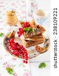 belgian waffles   Shutterstock . vector #238109221