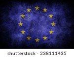 grunge eu flag | Shutterstock . vector #238111435
