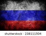grunge flag of russia   Shutterstock . vector #238111504