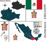 vector map of state oaxaca with ...