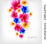 abstract floral artistic... | Shutterstock .eps vector #238116991