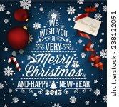 christmas and new year... | Shutterstock .eps vector #238122091