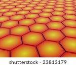 3d hexagon background | Shutterstock . vector #23813179