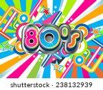 80s party illustration logo.... | Shutterstock .eps vector #238132939