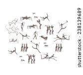 ancient petroglyphs depicting...   Shutterstock .eps vector #238139689