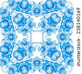 blue floral seamless pattern in ...   Shutterstock . vector #238140169