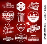 set of typographic valentines... | Shutterstock .eps vector #238141831
