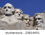 Mount Rushmore National Monument in the Black Hills, South Dakota, USA. - stock photo