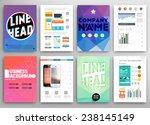 set of flyer  brochure design... | Shutterstock .eps vector #238145149