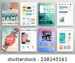 set of flyer  brochure design... | Shutterstock .eps vector #238145161