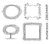 set of 4 ink frames. 4 flourish ...
