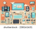 modern creative office... | Shutterstock .eps vector #238161631