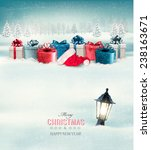 winter christmas background... | Shutterstock .eps vector #238163671
