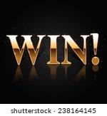 win    vector shiny banner ... | Shutterstock .eps vector #238164145