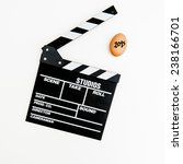 an egg signed as 2015 and movie ... | Shutterstock . vector #238166701