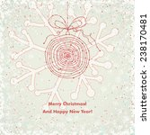 cute christmas card with... | Shutterstock .eps vector #238170481