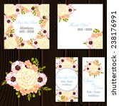 wedding invitation cards with... | Shutterstock .eps vector #238176991