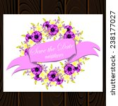 wedding invitation cards with... | Shutterstock .eps vector #238177027