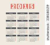 2015 european style calendar... | Shutterstock .eps vector #238180159
