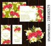 wedding invitation cards with...   Shutterstock .eps vector #238182175