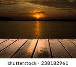 wooden platform beside lake...   Shutterstock . vector #238182961