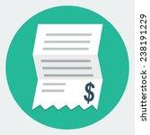 vector invoice icon | Shutterstock .eps vector #238191229