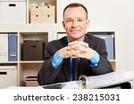 accountant sitting at his desk... | Shutterstock . vector #238215031