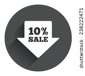 10  sale arrow tag sign icon....