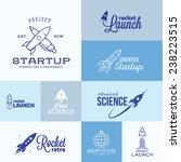 vector rocket logo set. icons ... | Shutterstock .eps vector #238223515