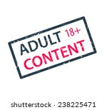 adult content stamp vector...