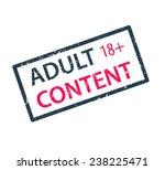 adult content stamp vector...