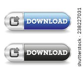 two long download buttons with... | Shutterstock .eps vector #238227031