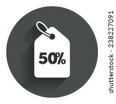 50  sale price tag sign icon....