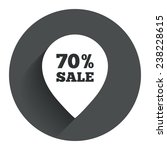 70  sale pointer tag sign icon. ...