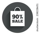 90  sale bag tag sign icon....