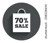 70  sale bag tag sign icon....