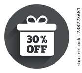 30  sale gift box tag sign icon....