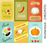 healthy food vegan and... | Shutterstock .eps vector #238229251