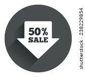 50  sale arrow tag sign icon....