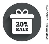 20  sale gift box tag sign icon....